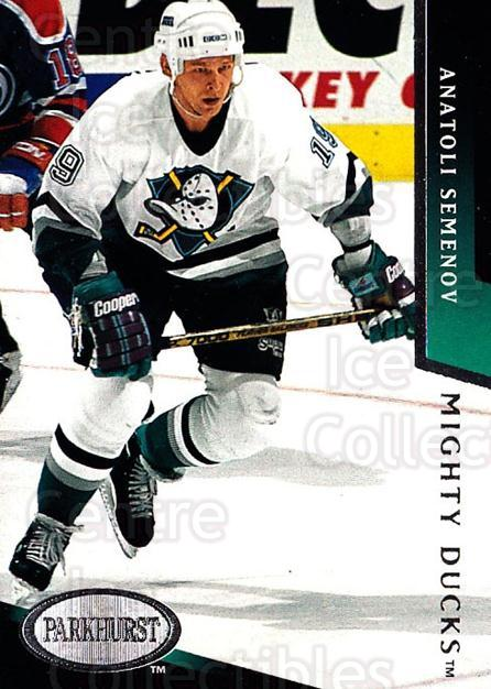 1993-94 Parkhurst #3 Anatoli Semenov<br/>4 In Stock - $1.00 each - <a href=https://centericecollectibles.foxycart.com/cart?name=1993-94%20Parkhurst%20%233%20Anatoli%20Semenov...&quantity_max=4&price=$1.00&code=146732 class=foxycart> Buy it now! </a>
