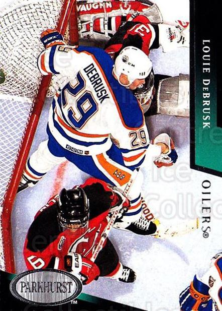 1993-94 Parkhurst #337 Louie DeBrusk<br/>6 In Stock - $1.00 each - <a href=https://centericecollectibles.foxycart.com/cart?name=1993-94%20Parkhurst%20%23337%20Louie%20DeBrusk...&quantity_max=6&price=$1.00&code=146760 class=foxycart> Buy it now! </a>