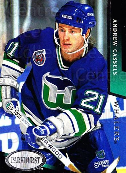 1993-94 Parkhurst #359 Andrew Cassels<br/>5 In Stock - $1.00 each - <a href=https://centericecollectibles.foxycart.com/cart?name=1993-94%20Parkhurst%20%23359%20Andrew%20Cassels...&quantity_max=5&price=$1.00&code=146771 class=foxycart> Buy it now! </a>