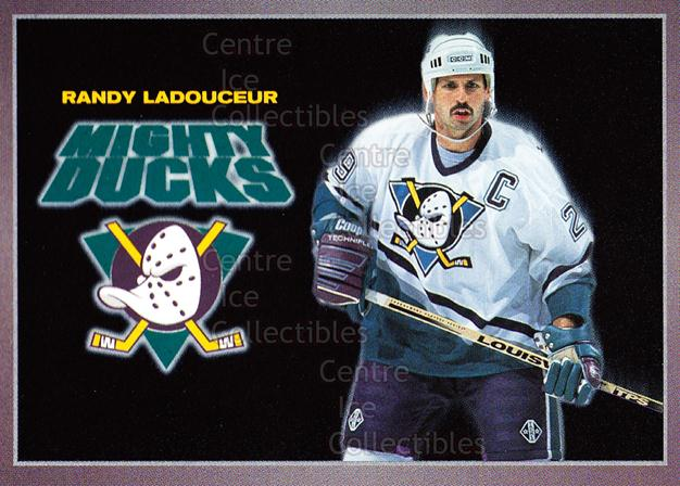 1994-95 Anaheim Mighty Ducks Carls Jr. #15 Randy Ladouceur<br/>14 In Stock - $3.00 each - <a href=https://centericecollectibles.foxycart.com/cart?name=1994-95%20Anaheim%20Mighty%20Ducks%20Carls%20Jr.%20%2315%20Randy%20Ladouceur...&quantity_max=14&price=$3.00&code=1467 class=foxycart> Buy it now! </a>