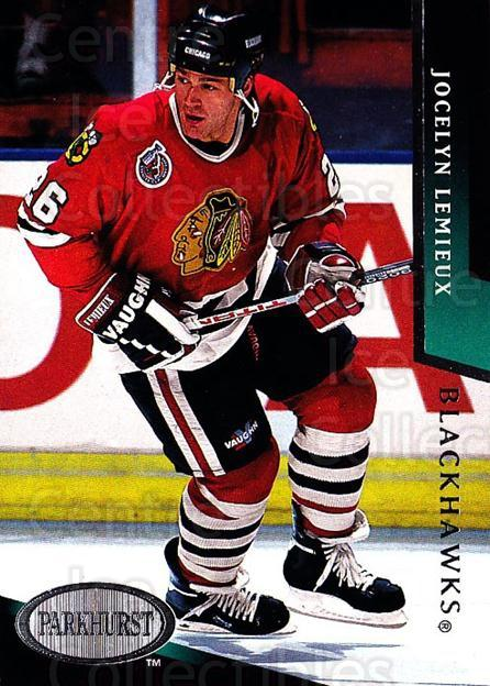 1993-94 Parkhurst #43 Jocelyn Lemieux<br/>4 In Stock - $1.00 each - <a href=https://centericecollectibles.foxycart.com/cart?name=1993-94%20Parkhurst%20%2343%20Jocelyn%20Lemieux...&quantity_max=4&price=$1.00&code=146816 class=foxycart> Buy it now! </a>