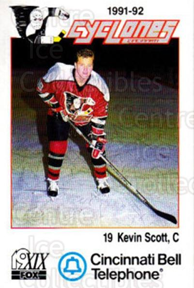 1991-92 Cincinnati Cyclones #21 Kevin Scott<br/>5 In Stock - $3.00 each - <a href=https://centericecollectibles.foxycart.com/cart?name=1991-92%20Cincinnati%20Cyclones%20%2321%20Kevin%20Scott...&quantity_max=5&price=$3.00&code=14683 class=foxycart> Buy it now! </a>