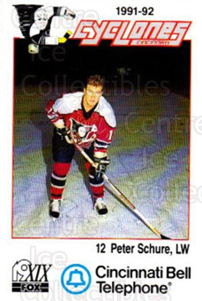 1991-92 Cincinnati Cyclones #22 Peter Schure<br/>2 In Stock - $3.00 each - <a href=https://centericecollectibles.foxycart.com/cart?name=1991-92%20Cincinnati%20Cyclones%20%2322%20Peter%20Schure...&quantity_max=2&price=$3.00&code=14684 class=foxycart> Buy it now! </a>