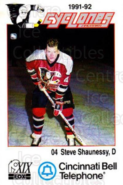 1991-92 Cincinnati Cyclones #23 Steve Shaunessy<br/>3 In Stock - $3.00 each - <a href=https://centericecollectibles.foxycart.com/cart?name=1991-92%20Cincinnati%20Cyclones%20%2323%20Steve%20Shaunessy...&quantity_max=3&price=$3.00&code=14685 class=foxycart> Buy it now! </a>