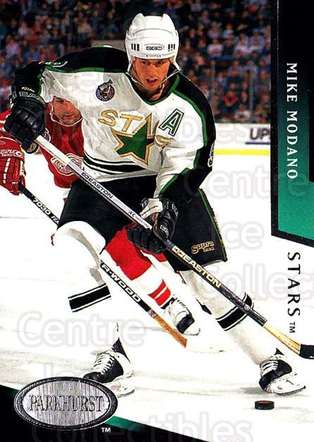 1993-94 Parkhurst #49 Mike Modano<br/>2 In Stock - $1.00 each - <a href=https://centericecollectibles.foxycart.com/cart?name=1993-94%20Parkhurst%20%2349%20Mike%20Modano...&quantity_max=2&price=$1.00&code=146881 class=foxycart> Buy it now! </a>