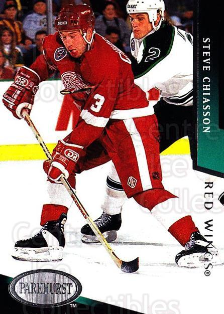 1993-94 Parkhurst #55 Steve Chiasson<br/>5 In Stock - $1.00 each - <a href=https://centericecollectibles.foxycart.com/cart?name=1993-94%20Parkhurst%20%2355%20Steve%20Chiasson...&quantity_max=5&price=$1.00&code=146932 class=foxycart> Buy it now! </a>