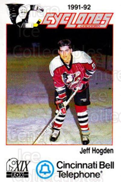 1991-92 Cincinnati Cyclones #9 Jeff Hogden<br/>1 In Stock - $3.00 each - <a href=https://centericecollectibles.foxycart.com/cart?name=1991-92%20Cincinnati%20Cyclones%20%239%20Jeff%20Hogden...&quantity_max=1&price=$3.00&code=14693 class=foxycart> Buy it now! </a>