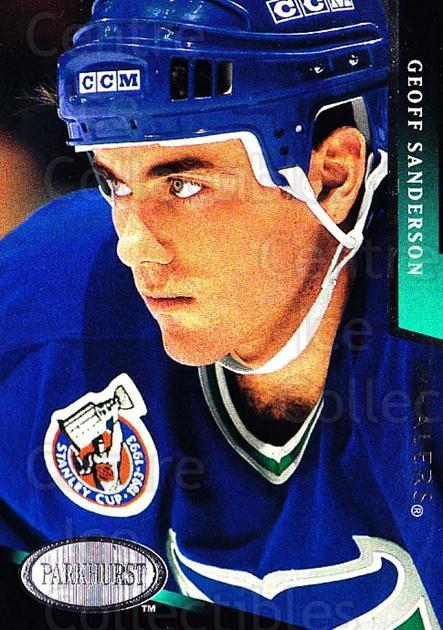 1993-94 Parkhurst #86 Geoff Sanderson<br/>4 In Stock - $1.00 each - <a href=https://centericecollectibles.foxycart.com/cart?name=1993-94%20Parkhurst%20%2386%20Geoff%20Sanderson...&quantity_max=4&price=$1.00&code=146960 class=foxycart> Buy it now! </a>