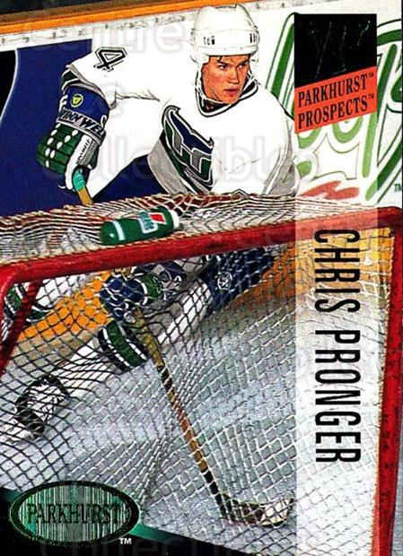 1993-94 Parkhurst Emerald #249 Chris Pronger<br/>4 In Stock - $2.00 each - <a href=https://centericecollectibles.foxycart.com/cart?name=1993-94%20Parkhurst%20Emerald%20%23249%20Chris%20Pronger...&quantity_max=4&price=$2.00&code=146979 class=foxycart> Buy it now! </a>