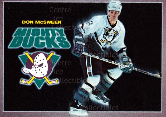 1994-95 Anaheim Mighty Ducks Carls Jr. #18 Don McSween<br/>13 In Stock - $3.00 each - <a href=https://centericecollectibles.foxycart.com/cart?name=1994-95%20Anaheim%20Mighty%20Ducks%20Carls%20Jr.%20%2318%20Don%20McSween...&quantity_max=13&price=$3.00&code=1470 class=foxycart> Buy it now! </a>