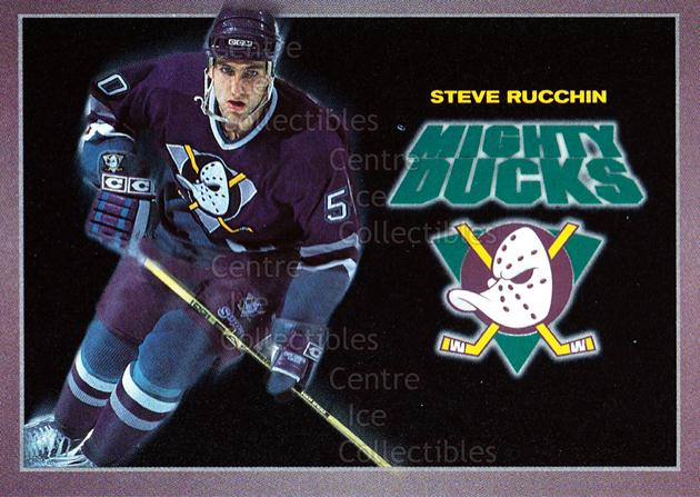 1994-95 Anaheim Mighty Ducks Carls Jr. #19 Steve Rucchin<br/>13 In Stock - $3.00 each - <a href=https://centericecollectibles.foxycart.com/cart?name=1994-95%20Anaheim%20Mighty%20Ducks%20Carls%20Jr.%20%2319%20Steve%20Rucchin...&quantity_max=13&price=$3.00&code=1471 class=foxycart> Buy it now! </a>