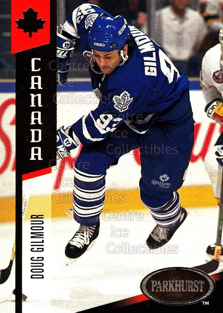 1993-94 Parkhurst USA/Canada Gold #10 Doug Gilmour<br/>2 In Stock - $3.00 each - <a href=https://centericecollectibles.foxycart.com/cart?name=1993-94%20Parkhurst%20USA/Canada%20Gold%20%2310%20Doug%20Gilmour...&quantity_max=2&price=$3.00&code=147315 class=foxycart> Buy it now! </a>