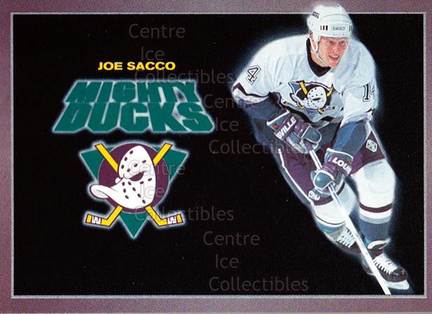 1994-95 Anaheim Mighty Ducks Carls Jr. #21 Joe Sacco<br/>12 In Stock - $3.00 each - <a href=https://centericecollectibles.foxycart.com/cart?name=1994-95%20Anaheim%20Mighty%20Ducks%20Carls%20Jr.%20%2321%20Joe%20Sacco...&quantity_max=12&price=$3.00&code=1474 class=foxycart> Buy it now! </a>