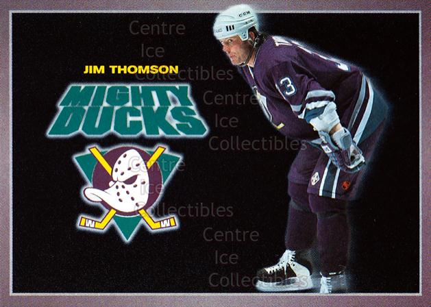 1994-95 Anaheim Mighty Ducks Carls Jr. #23 Jim Thomson<br/>2 In Stock - $3.00 each - <a href=https://centericecollectibles.foxycart.com/cart?name=1994-95%20Anaheim%20Mighty%20Ducks%20Carls%20Jr.%20%2323%20Jim%20Thomson...&quantity_max=2&price=$3.00&code=1476 class=foxycart> Buy it now! </a>