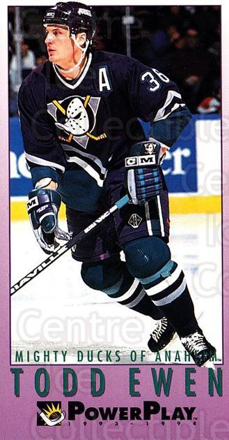 1993-94 PowerPlay #285 Todd Ewen<br/>8 In Stock - $1.00 each - <a href=https://centericecollectibles.foxycart.com/cart?name=1993-94%20PowerPlay%20%23285%20Todd%20Ewen...&quantity_max=8&price=$1.00&code=148047 class=foxycart> Buy it now! </a>
