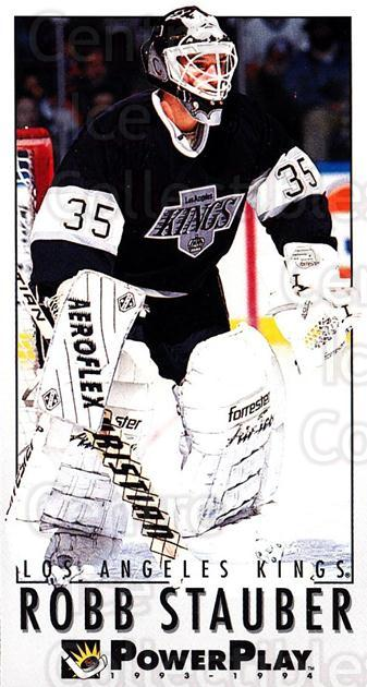 1993-94 PowerPlay #363 Robb Stauber<br/>7 In Stock - $1.00 each - <a href=https://centericecollectibles.foxycart.com/cart?name=1993-94%20PowerPlay%20%23363%20Robb%20Stauber...&quantity_max=7&price=$1.00&code=148130 class=foxycart> Buy it now! </a>