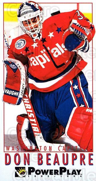 1993-94 PowerPlay #463 Don Beaupre<br/>7 In Stock - $1.00 each - <a href=https://centericecollectibles.foxycart.com/cart?name=1993-94%20PowerPlay%20%23463%20Don%20Beaupre...&quantity_max=7&price=$1.00&code=148234 class=foxycart> Buy it now! </a>