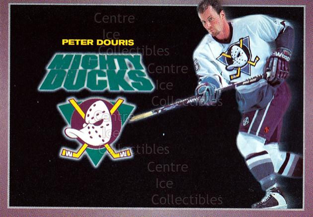 1994-95 Anaheim Mighty Ducks Carls Jr. #5 Peter Douris<br/>14 In Stock - $3.00 each - <a href=https://centericecollectibles.foxycart.com/cart?name=1994-95%20Anaheim%20Mighty%20Ducks%20Carls%20Jr.%20%235%20Peter%20Douris...&quantity_max=14&price=$3.00&code=1482 class=foxycart> Buy it now! </a>