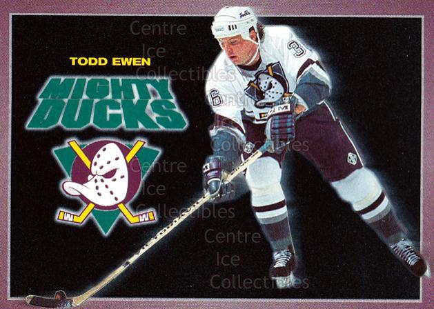 1994-95 Anaheim Mighty Ducks Carls Jr. #6 Todd Ewen<br/>14 In Stock - $3.00 each - <a href=https://centericecollectibles.foxycart.com/cart?name=1994-95%20Anaheim%20Mighty%20Ducks%20Carls%20Jr.%20%236%20Todd%20Ewen...&quantity_max=14&price=$3.00&code=1483 class=foxycart> Buy it now! </a>