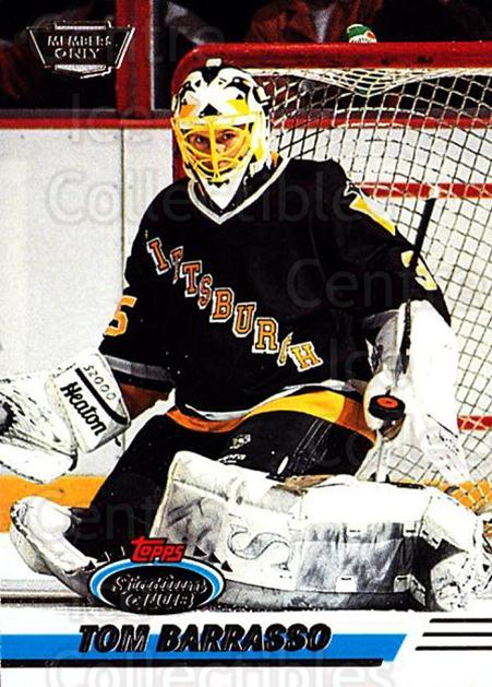 1993-94 Stadium Club Members Only #79 Tom Barrasso<br/>9 In Stock - $2.00 each - <a href=https://centericecollectibles.foxycart.com/cart?name=1993-94%20Stadium%20Club%20Members%20Only%20%2379%20Tom%20Barrasso...&price=$2.00&code=148652 class=foxycart> Buy it now! </a>