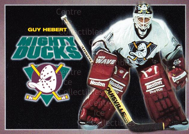 1994-95 Anaheim Mighty Ducks Carls Jr. #9 Guy Hebert<br/>9 In Stock - $3.00 each - <a href=https://centericecollectibles.foxycart.com/cart?name=1994-95%20Anaheim%20Mighty%20Ducks%20Carls%20Jr.%20%239%20Guy%20Hebert...&quantity_max=9&price=$3.00&code=1486 class=foxycart> Buy it now! </a>
