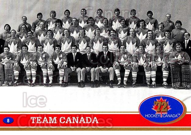 1991 Future Trends Canada 1972 #8 Team Canada, Team Photo<br/>10 In Stock - $1.00 each - <a href=https://centericecollectibles.foxycart.com/cart?name=1991%20Future%20Trends%20Canada%201972%20%238%20Team%20Canada,%20Te...&price=$1.00&code=14893 class=foxycart> Buy it now! </a>