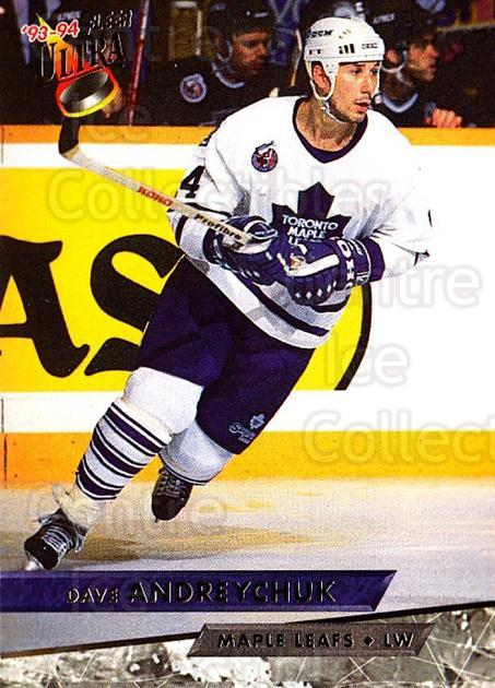 1993-94 Ultra #57 Dave Andreychuk<br/>4 In Stock - $1.00 each - <a href=https://centericecollectibles.foxycart.com/cart?name=1993-94%20Ultra%20%2357%20Dave%20Andreychuk...&quantity_max=4&price=$1.00&code=149158 class=foxycart> Buy it now! </a>