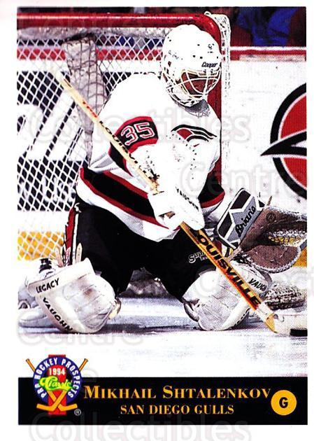 1994 Classic Pro Prospects #49 Mikhail Shtalenkov<br/>11 In Stock - $1.00 each - <a href=https://centericecollectibles.foxycart.com/cart?name=1994%20Classic%20Pro%20Prospects%20%2349%20Mikhail%20Shtalen...&quantity_max=11&price=$1.00&code=149246 class=foxycart> Buy it now! </a>