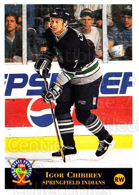 1994 Classic Pro Prospects #61 Igor Chibirev<br/>5 In Stock - $1.00 each - <a href=https://centericecollectibles.foxycart.com/cart?name=1994%20Classic%20Pro%20Prospects%20%2361%20Igor%20Chibirev...&quantity_max=5&price=$1.00&code=149259 class=foxycart> Buy it now! </a>