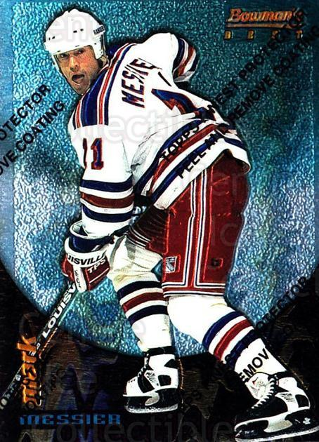 1994-95 Finest Bowmans Best Blue #2 Mark Messier<br/>11 In Stock - $2.00 each - <a href=https://centericecollectibles.foxycart.com/cart?name=1994-95%20Finest%20Bowmans%20Best%20Blue%20%232%20Mark%20Messier...&quantity_max=11&price=$2.00&code=1492 class=foxycart> Buy it now! </a>