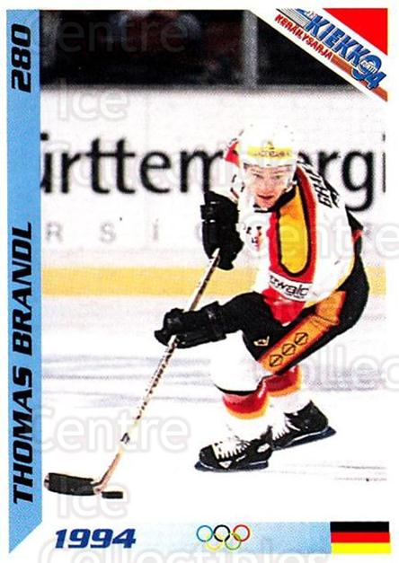 1994 Finnish Jaa Kiekko #280 Thomas Brandl<br/>2 In Stock - $2.00 each - <a href=https://centericecollectibles.foxycart.com/cart?name=1994%20Finnish%20Jaa%20Kiekko%20%23280%20Thomas%20Brandl...&quantity_max=2&price=$2.00&code=149372 class=foxycart> Buy it now! </a>
