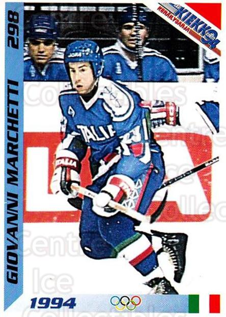 1994 Finnish Jaa Kiekko #298 Giovanni Marchetti<br/>5 In Stock - $2.00 each - <a href=https://centericecollectibles.foxycart.com/cart?name=1994%20Finnish%20Jaa%20Kiekko%20%23298%20Giovanni%20Marche...&quantity_max=5&price=$2.00&code=149388 class=foxycart> Buy it now! </a>