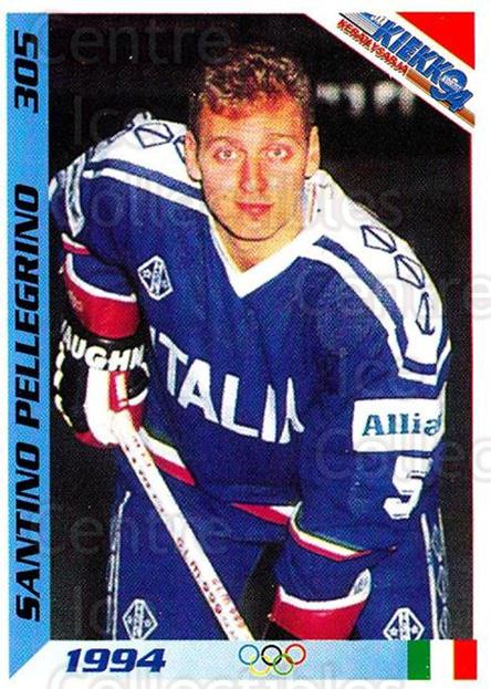 1994 Finnish Jaa Kiekko #305 Santino Pellegrino<br/>7 In Stock - $2.00 each - <a href=https://centericecollectibles.foxycart.com/cart?name=1994%20Finnish%20Jaa%20Kiekko%20%23305%20Santino%20Pellegr...&quantity_max=7&price=$2.00&code=149395 class=foxycart> Buy it now! </a>