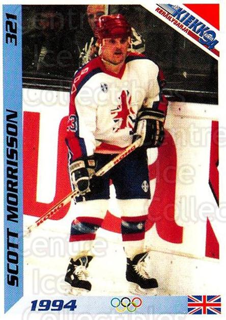 1994 Finnish Jaa Kiekko #321 Scott Morrisson<br/>2 In Stock - $2.00 each - <a href=https://centericecollectibles.foxycart.com/cart?name=1994%20Finnish%20Jaa%20Kiekko%20%23321%20Scott%20Morrisson...&quantity_max=2&price=$2.00&code=149411 class=foxycart> Buy it now! </a>