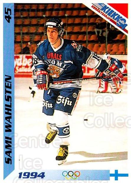 1994 Finnish Jaa Kiekko #45 Sami Wahlsten<br/>4 In Stock - $2.00 each - <a href=https://centericecollectibles.foxycart.com/cart?name=1994%20Finnish%20Jaa%20Kiekko%20%2345%20Sami%20Wahlsten...&quantity_max=4&price=$2.00&code=149443 class=foxycart> Buy it now! </a>