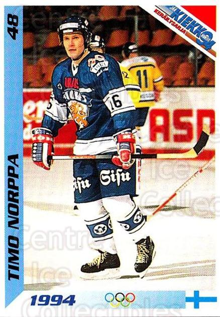 1994 Finnish Jaa Kiekko #48 Timo Norppa<br/>5 In Stock - $2.00 each - <a href=https://centericecollectibles.foxycart.com/cart?name=1994%20Finnish%20Jaa%20Kiekko%20%2348%20Timo%20Norppa...&quantity_max=5&price=$2.00&code=149446 class=foxycart> Buy it now! </a>