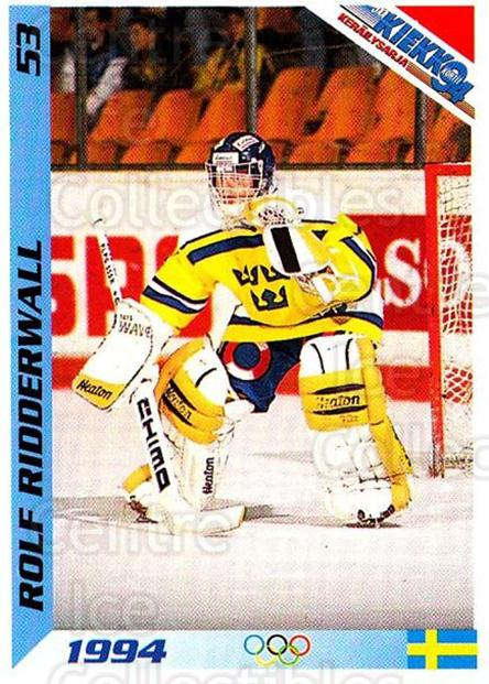 1994 Finnish Jaa Kiekko #53 Rolf Ridderwall<br/>2 In Stock - $2.00 each - <a href=https://centericecollectibles.foxycart.com/cart?name=1994%20Finnish%20Jaa%20Kiekko%20%2353%20Rolf%20Ridderwall...&quantity_max=2&price=$2.00&code=149452 class=foxycart> Buy it now! </a>