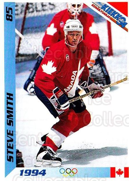 1994 Finnish Jaa Kiekko #85 Steve Smith<br/>4 In Stock - $2.00 each - <a href=https://centericecollectibles.foxycart.com/cart?name=1994%20Finnish%20Jaa%20Kiekko%20%2385%20Steve%20Smith...&quantity_max=4&price=$2.00&code=149481 class=foxycart> Buy it now! </a>