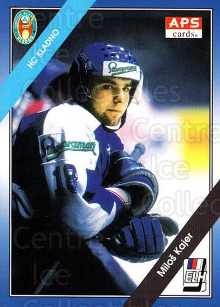1994-95 Czech APS Extraliga #69 Milos Kajer<br/>5 In Stock - $2.00 each - <a href=https://centericecollectibles.foxycart.com/cart?name=1994-95%20Czech%20APS%20Extraliga%20%2369%20Milos%20Kajer...&quantity_max=5&price=$2.00&code=149755 class=foxycart> Buy it now! </a>