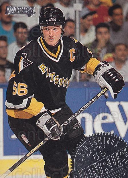 1994-95 Donruss #5 Mario Lemieux<br/>3 In Stock - $2.00 each - <a href=https://centericecollectibles.foxycart.com/cart?name=1994-95%20Donruss%20%235%20Mario%20Lemieux...&quantity_max=3&price=$2.00&code=149897 class=foxycart> Buy it now! </a>