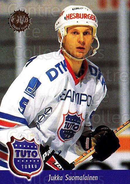 1994-95 Finnish SISU #280 Jukka Suomalainen<br/>1 In Stock - $2.00 each - <a href=https://centericecollectibles.foxycart.com/cart?name=1994-95%20Finnish%20SISU%20%23280%20Jukka%20Suomalain...&quantity_max=1&price=$2.00&code=149978 class=foxycart> Buy it now! </a>