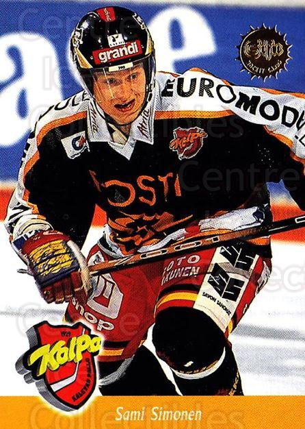 1994-95 Finnish SISU #33 Sami Simonen<br/>4 In Stock - $2.00 each - <a href=https://centericecollectibles.foxycart.com/cart?name=1994-95%20Finnish%20SISU%20%2333%20Sami%20Simonen...&quantity_max=4&price=$2.00&code=150028 class=foxycart> Buy it now! </a>