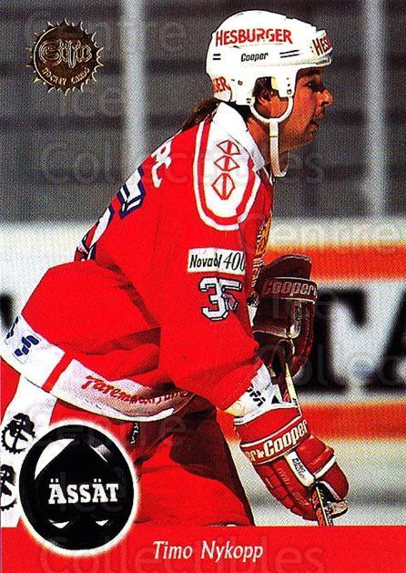 1994-95 Finnish SISU #341 Timo Nykopp<br/>2 In Stock - $2.00 each - <a href=https://centericecollectibles.foxycart.com/cart?name=1994-95%20Finnish%20SISU%20%23341%20Timo%20Nykopp...&quantity_max=2&price=$2.00&code=150040 class=foxycart> Buy it now! </a>
