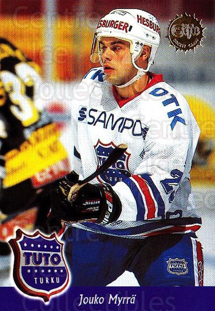 1994-95 Finnish SISU #344 Jouko Myrra<br/>4 In Stock - $2.00 each - <a href=https://centericecollectibles.foxycart.com/cart?name=1994-95%20Finnish%20SISU%20%23344%20Jouko%20Myrra...&quantity_max=4&price=$2.00&code=150043 class=foxycart> Buy it now! </a>