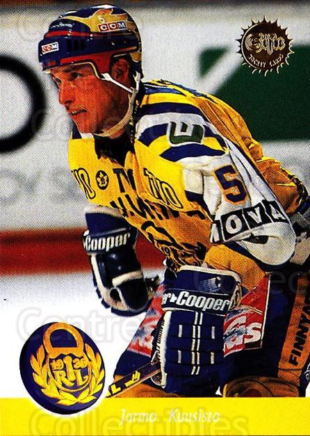 1994-95 Finnish SISU #5 Jarmo Kuusisto<br/>1 In Stock - $2.00 each - <a href=https://centericecollectibles.foxycart.com/cart?name=1994-95%20Finnish%20SISU%20%235%20Jarmo%20Kuusisto...&quantity_max=1&price=$2.00&code=150108 class=foxycart> Buy it now! </a>