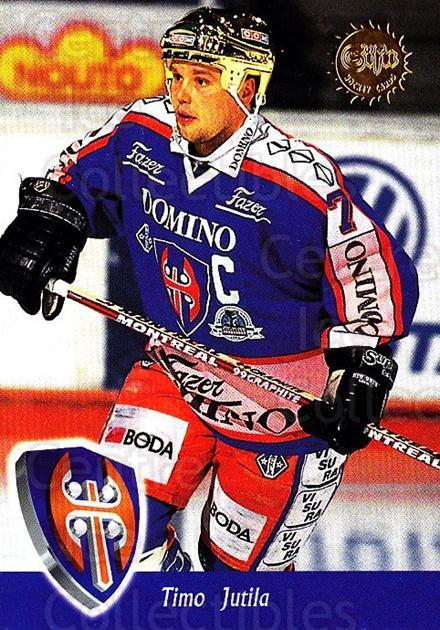 1994-95 Finnish SISU #59 Timo Jutila<br/>1 In Stock - $2.00 each - <a href=https://centericecollectibles.foxycart.com/cart?name=1994-95%20Finnish%20SISU%20%2359%20Timo%20Jutila...&quantity_max=1&price=$2.00&code=150117 class=foxycart> Buy it now! </a>