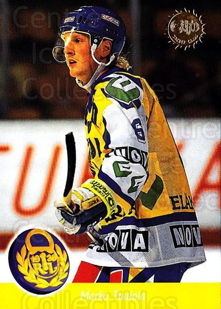 1994-95 Finnish SISU #6 Marko Tuulola<br/>4 In Stock - $2.00 each - <a href=https://centericecollectibles.foxycart.com/cart?name=1994-95%20Finnish%20SISU%20%236%20Marko%20Tuulola...&quantity_max=4&price=$2.00&code=150118 class=foxycart> Buy it now! </a>