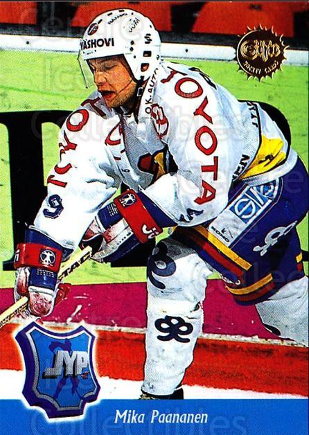 1994-95 Finnish SISU #82 Mika Paananen<br/>2 In Stock - $2.00 each - <a href=https://centericecollectibles.foxycart.com/cart?name=1994-95%20Finnish%20SISU%20%2382%20Mika%20Paananen...&quantity_max=2&price=$2.00&code=150143 class=foxycart> Buy it now! </a>