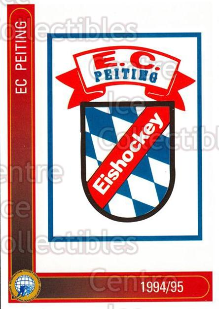 1994-95 German First League #261 Peiting EC<br/>6 In Stock - $2.00 each - <a href=https://centericecollectibles.foxycart.com/cart?name=1994-95%20German%20First%20League%20%23261%20Peiting%20EC...&quantity_max=6&price=$2.00&code=150185 class=foxycart> Buy it now! </a>
