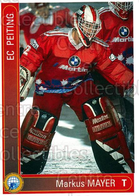 1994-95 German First League #263 Markus Mayer<br/>12 In Stock - $2.00 each - <a href=https://centericecollectibles.foxycart.com/cart?name=1994-95%20German%20First%20League%20%23263%20Markus%20Mayer...&quantity_max=12&price=$2.00&code=150187 class=foxycart> Buy it now! </a>